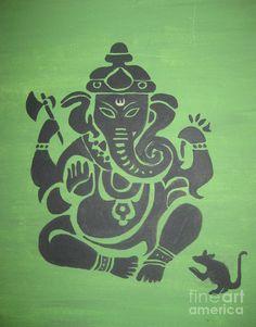 Ganesha Painting - Ganesha by Deepa Padmanabhan