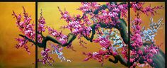 Flower blosssoms oil painting in DC gallery