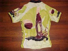 World Jerseys Tempo Di Vino Wine Bottle Goblet Green Adult Cycling Jersey L #WorldJerseys