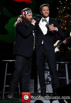 Wishing you a hairy Christmas and a happy happy happy new year! Love Luke Bryan and Willie Robertson!!!!