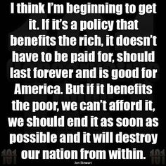 Thinking like this is how voting for Republicans is like shooting yourself in the foot !