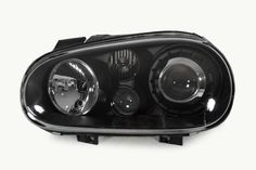 R32 Style Crystal Black Projector Headlights with Fog Light for MK4 Golf & GTI