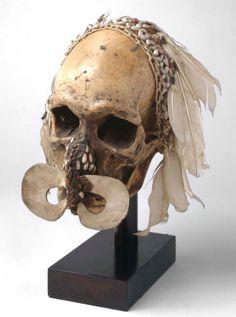 Crâne Asmat, Irian Jayat Nouvelle-Guinée