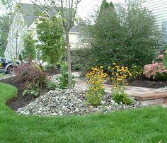 boulder berm gardening yard