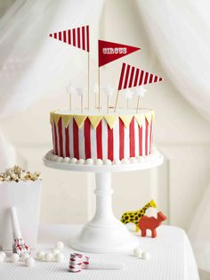 Circus Tent   From More Cakes for Kids - available where all good books are sold and online at: http://www.magshop.com.au/browse/aww-trade-cookbooks     Photographer: Dean Wilmot