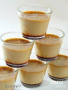Carol 自在生活  : 奶茶蛋白布丁 蛋白5個(約160g),牛奶400cc,動物性鮮奶油50cc, 細砂糖40g,伯爵紅茶包2包