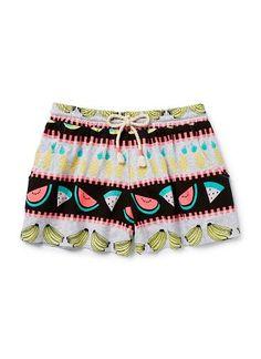 Teen Girls Shorts | Fruit Print Short | Seed Heritage
