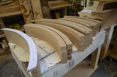 curved oak frame for french door shutters