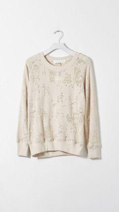 IRO Nona Sweatshirt in Ecru    The Dreslyn