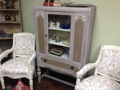 Vintage China Cabinet Art Deco Display Case by VintageHipDecor, $299.00
