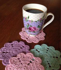 Little heart coaster   Crochet Millan