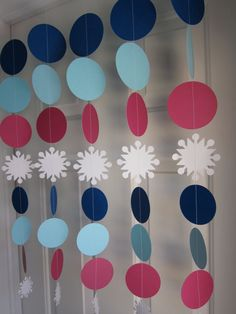 Frozen Birthday Party Decorations, Paper Garland, Frozen Decorations, Frozen Party, Disney Princess Decor on Etsy, $25.00