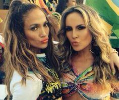 Jennifer Lopez e Claudia Leitte publicam fotos da gravacao do clip do Mundial. | (Instagram/Reprodução)