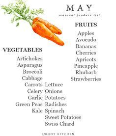 May Seasonal Produce List | uprootkitchen.com