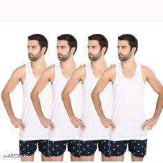 Innerwear Vests Trendy Men's Innerwear Vests Fabric: Hosiery Cotton Sleeves: Sleeves Are Not Included Size: S - 80 cmM - 85 cm L - 90 cm XL - 100 cm Length: Up To 26 in Type: Stitched Description: It Has 4 Pieces Of Men's Vests Pattern: Solid Country of Origin: India Sizes Available: XS, S, M, L, XL   Catalog Rating: ★4.2 (5066)  Catalog Name: Trendy Comfy Men's Solid Inner Vest Combo Vol 11 CatalogID_624912 C68-SC1217 Code: 582-4353639-555