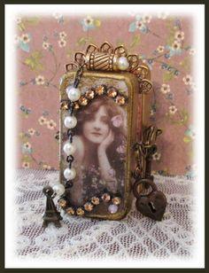 "Altered Domino Book By Melanie ""Dream a Little Dream"" https://www.etsy.com/shop/melahall"