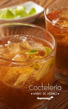#Whisky de verano: Sirve en un vaso ¼ de taza de refresco de limón, 1 ½ oz. de whisky y 355 ml de cerveza oscura. Mezcla y sirve con un twist de limón.