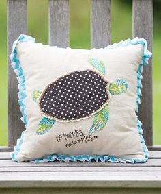 Sea Turtle Throw Pillow by Glory Haus