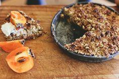 Persimmon & oat crumble