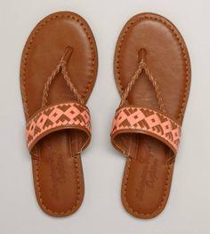 Cute aztec sandals.