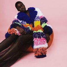 loopy texture by merel bos ➿ . . . . . . . . . . #knit #knittersofinstagram #fashion #designer #fashionshoot #styling #colour #inspiration #knitspo #photography #knitstagram #knitters #knitting #dye #metallic #youngdesigner #instaknit #visualoptimism #yarn #mood #model #knittingaddict #fashionista