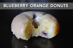 Orange Glazed Blueberry Donuts | 27 Glorious Blueberry Recipes For Summer