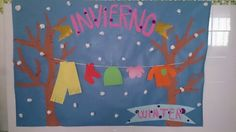 Mural invierno -2015 Kindergarten Class, Preschool Classroom, School Art Projects, Art School, Diy And Crafts, Arts And Crafts, Art N Craft, Winter Art, Little People