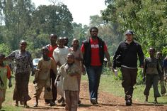 Chris Treter (HG owner) with our friends in Ethiopia.
