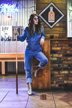 The Frankie - Denim Jumpsuit — Sapphires & Sagebrush Mercantile Denim Jumpsuit, Overalls, Best Stretches, Elastic Waist, Hair Cuts, Sleeves, Pants, Shopping, Collection