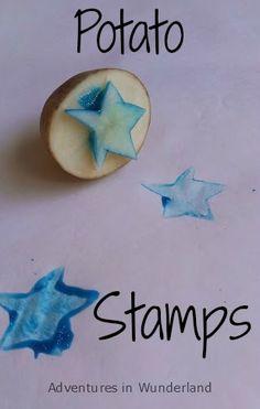 Adventures in WunderlandPaint with Kids: Potato Stamps