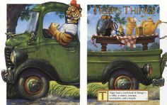 Tiger had a truckload of things: a table, a toaster, teacups, toothpicks and a teapot. SCOTT GUSTAFSON - T