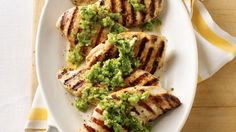 Grilled Chicken Salsa Verde - Make grilled chicken sizzle with flavor when you use  tomatillos, jalapeños, cilantro and garlic to create a salsa and marinade.