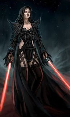 Female Sith Lord, love the shoulder spikes Mais Star Wars Mädchen, Star Wars The Old, Star Wars Girls, Female Sith Lords, Star Wars Personajes, Star Wars Pictures, Star Wars Characters, Fantasy Characters, Star Wars Collection