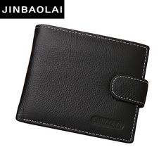 JINBAOLAI HOT genuine leather Men Wallets Brand High Quality Designer wallets with coin pocket purses gift for men card holder