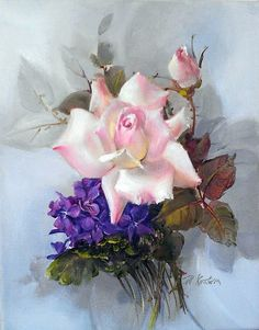 Floral paintings by Jill Kirstein