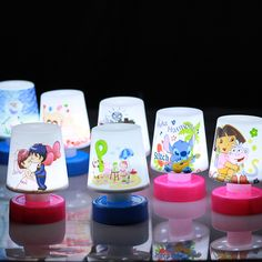 Led Night Lights Hospitable Plastic Sensor Lamp Led Touch Dimming Night Light For Children Kids Room Gift Making Things Convenient For Customers