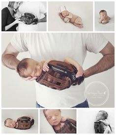 Baseball newborn photo with Brent- he really needs this for his office