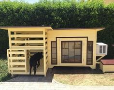 Image result for dog house with ac