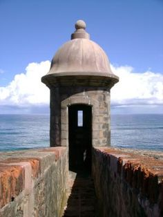 Visitors Guide to Old San Juan, Puerto Rico: The Garita, or sentry box, is one of Puerto Rico's most iconic symbols.