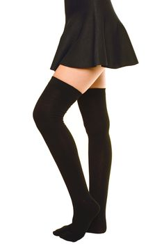 Featuring light ribbing at top hem and a mid-weight knit fabric, these thigh high boot socks mean business. Pair with your favorite platforms and miniskirt for a killer look. - Sizing: One size fits m