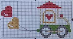 Lovely graph collection for knitting Cross Stitch Love, Cross Stitch Charts, Cross Stitch Embroidery, Cross Stitch Patterns, Beading Patterns, Embroidery Patterns, Stitching On Paper, Christmas Cross, Crochet Baby