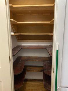 Under Stairs Cupboard Storage, Shelves Under Stairs, Stair Shelves, Staircase Storage, Pantry Cupboard, Pantry Shelving, Pantry Closet, Stair Storage, Understairs Cupboard Ideas