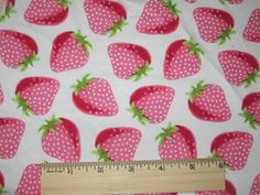 Big Strawberries on Knit Fabric. $7.99, via Etsy.