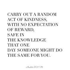 #randomactofkindness #loveconquersall