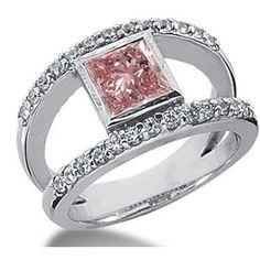 1.52 Karat Pink Diamant Ring aus 585er Weißgold. Ein Diamantring aus der Kollektion Pink von www.pearlgem.de