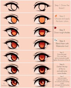 Eyes coloring tutorial by Maruvie art tips procreate Cute green eyes Steps by Maruvie on DeviantArt Eye Drawing Tutorials, Drawing Techniques, Drawing Tips, Art Tutorials, Drawing Sketches, Art Drawings, Drawing Ideas, Drawing Faces, Girl Eyes Drawing