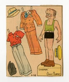 78.2400: Casper   paper doll   Paper Dolls   Dolls   National Museum of Play Online Collections   The Strong