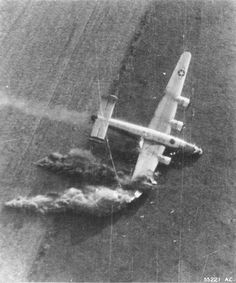 B-24J Liberator of the 854th Bomb Squadron after being hit by light-flak during low-level supply drop for the 101st Airborne near Eindhoven Holland and driven into the ground 18 September 1944. Only one gunner Frank Di Palma survived but was badly wounded.