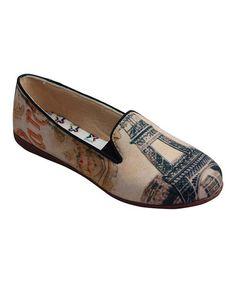 This Cream & Black Paris Loafer - Women is perfect! #zulilyfinds