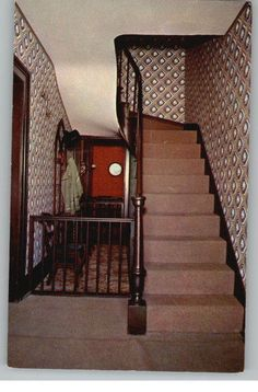 The Walnut Staircase At Lincoln's Home In Springfield, IL